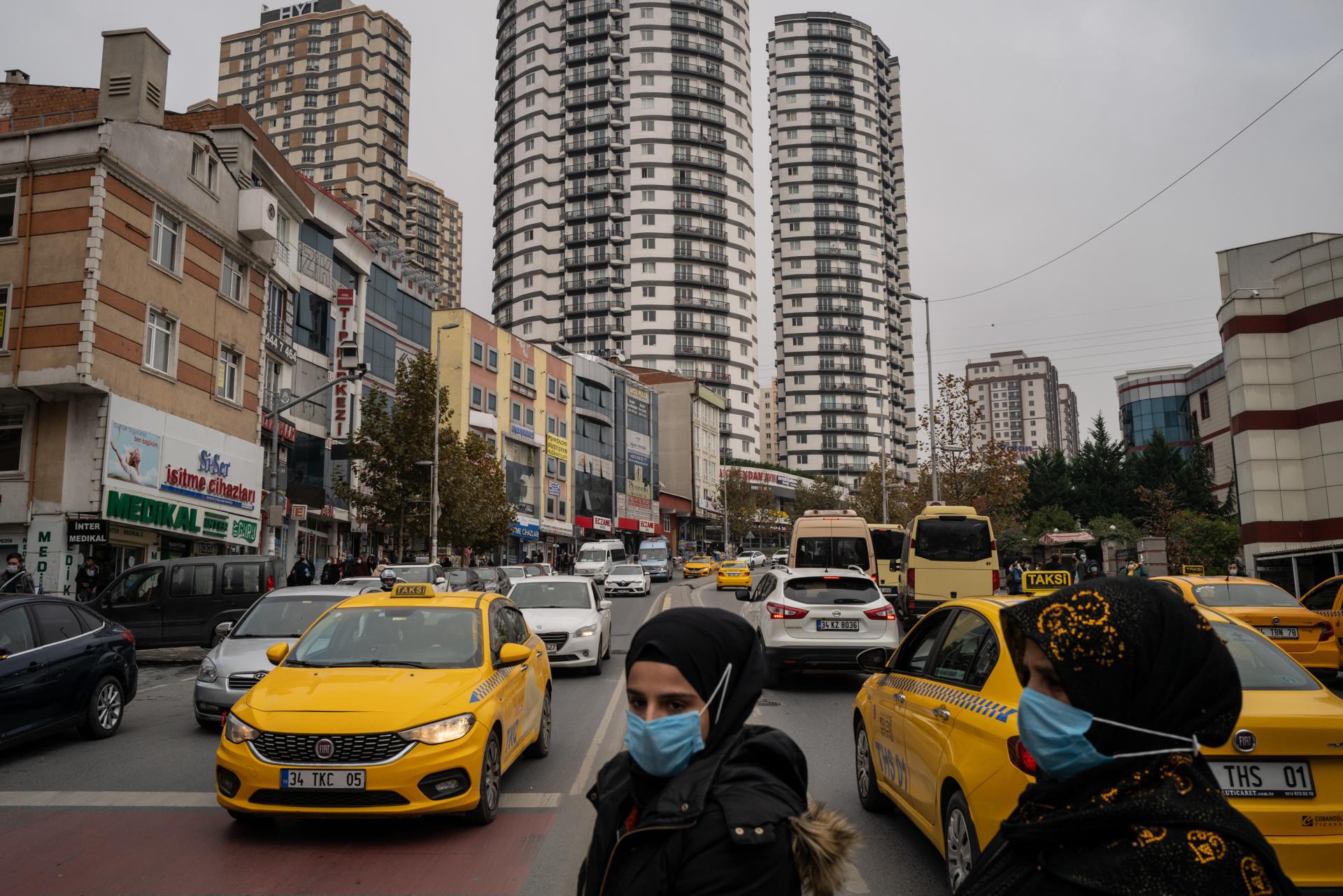 Le quartier d'Esenyurt, un district du sud-ouest d'Istanbul qui accueille de nombreux réfugiés, le 3 décembre.