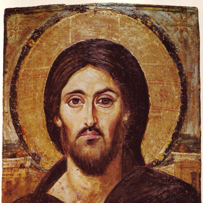 Icône du Christ Pantocrator, monastère Sainte-Catherine du mont Sinaï (Egypte), VIe siècle.