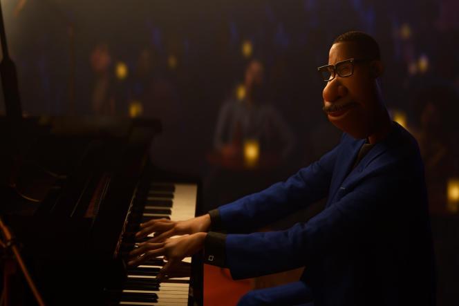Le personnage du professeur d'éducation musicale, Joe Gardner, dans le dessin animé Disney « Soul».