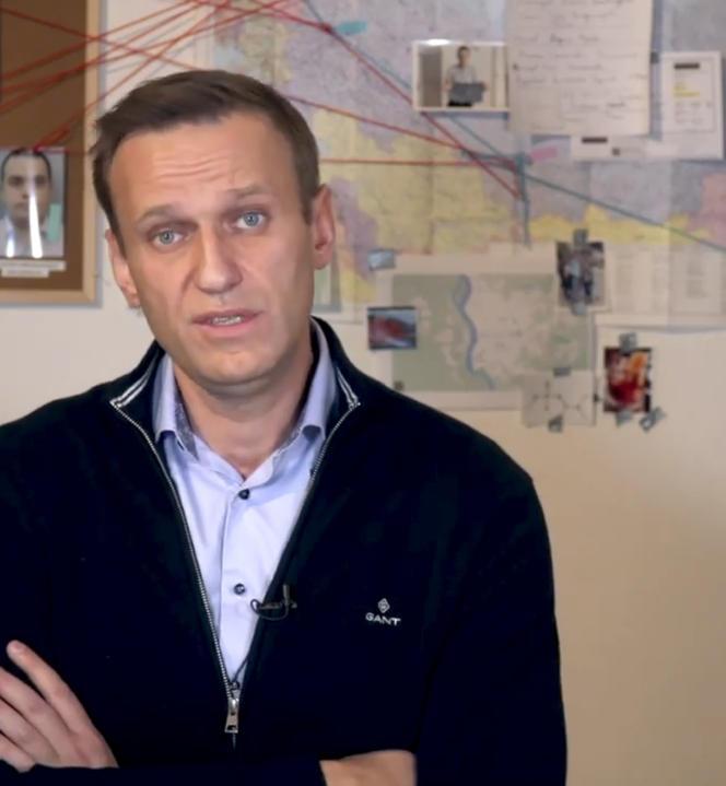 Image extraite d'une vidéo publiée par le militant de l'opposition russe Alexei Navalny sur son compte Instagram,le 21 décembre.