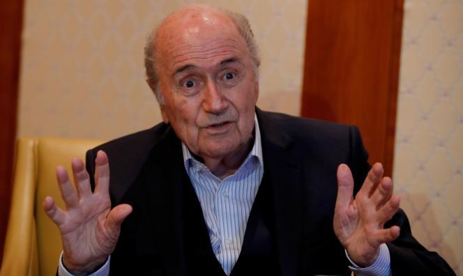 L'ex-président de la FIFA, Sepp Blatter, à Zurich (Suisse), en avril 2018.