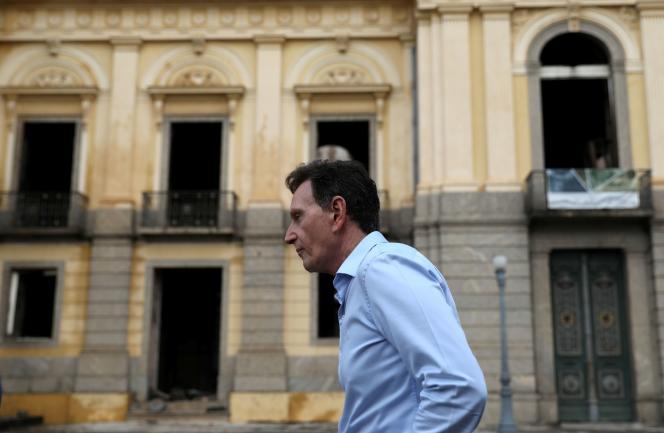 Le maire de Rio de Janeiro,Marcelo Crivella, dans sa ville, le 3 septembre 2018.