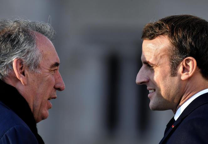 François Bayrou et Emmanuel Macron, à Pau, en janvier 2020.