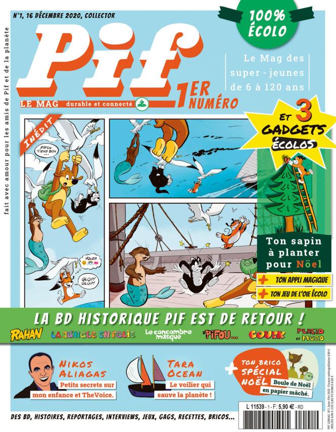 La couverture du premier numéro de «Pif le mag».