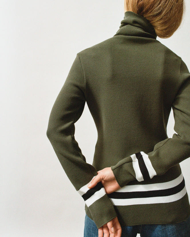 Pull Judith, tricoté en viscose EcoVero et polyester, 250 €, Fusalp.