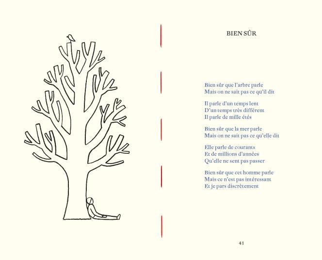 Extrait de «33 poèmes et demi», de Julien Baer et Laurent Moreau.