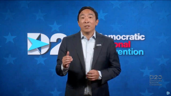 Andrew Yang at the Democratic Party National Convention, August 20, 2020.