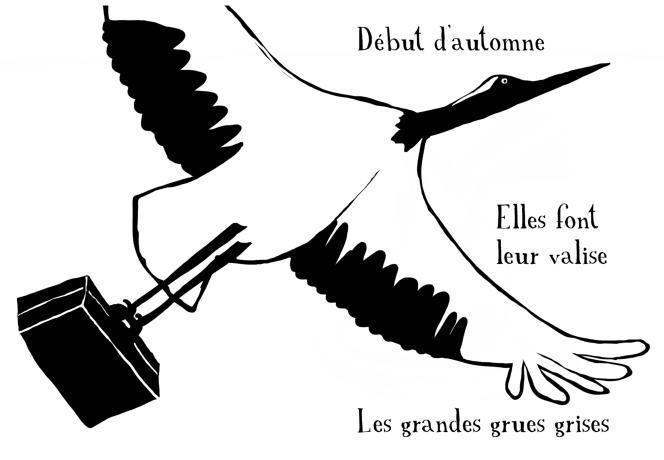 Extrait de «Poèmes pour bébé - haïkus d'automne», de Thierry Dedieu.