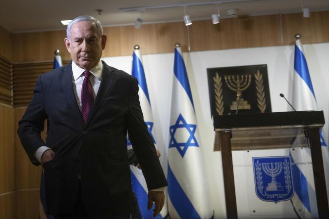 Benjamin Netanyahou lors de son discours à la Knesset, à Jérusalem, le 22 décembre.