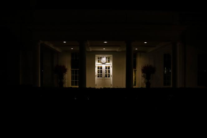Devant la Maison Blanche le 22 décembre, à Washington.