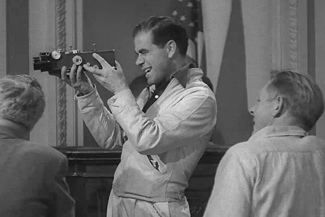 Frank Capra, en 1939, sur le tournage de son film «Monsieur Smith au Sénat»(«Mr.Smith Goes to Washington»).