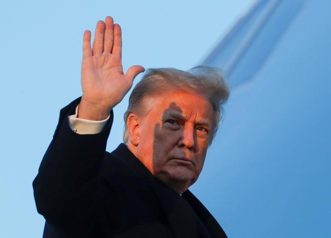 Donald Trump quitte Washington pour sa résidence de Floride, mercredi 23 décembre.