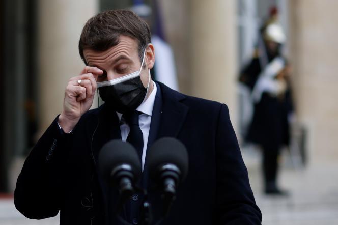 Emmanuel Macron, le 16 décembre, à l'Elysée.