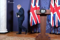 Boris Johnson, premier ministre britannique, à Londres, le 24 décembre 2020.