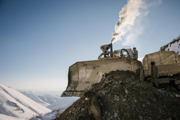 Sur la route de Kelbajar, à 3 300 mètres d'altitude, le 21 décembre.