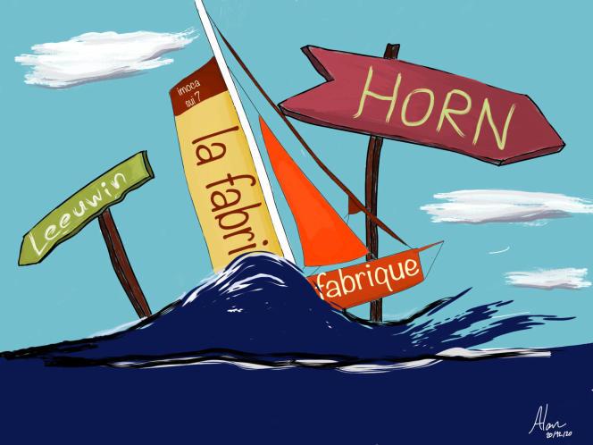Photo envoyée depuis le bateau «La Fabrique» pendant le Vendée Globe, course autour du monde à la voile, le 20 décembre 2020.