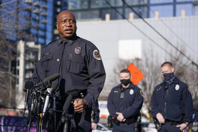 Le chef de la police de Nashville, John Drake, lors de la conférence de presse donnée par les autorités le 27 décembre.