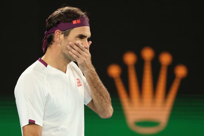 Roger Federer, à l'Open d'Australie 2020 à Melbourne.