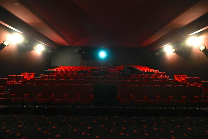 Une salle de cinéma vide à Mulhouse, le 29 octobre 2020.