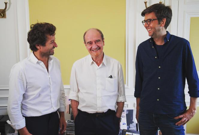 Philippe Lézin, Pierre Lescure et Maxime Switek.