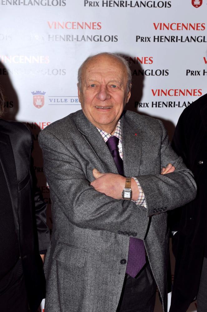 Le pianiste et compositeur de jazz Claude Bolling à Vincennes, le 31 janvier 2011.