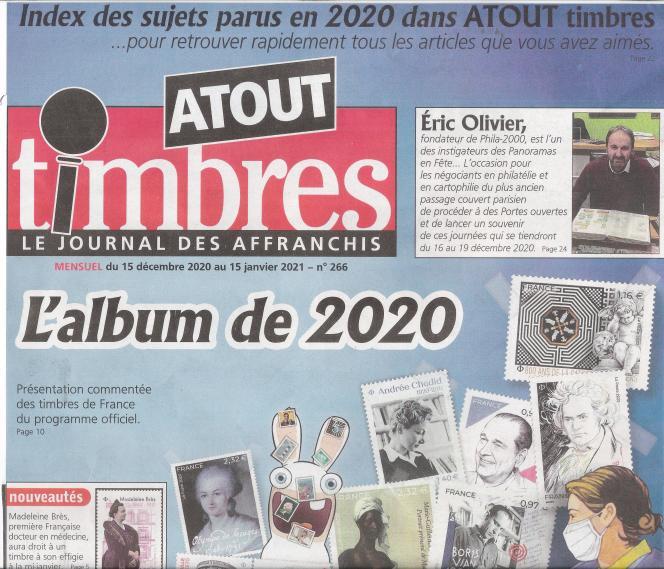 « Atout timbres», 32 pages, 2,50euros, en vente en kiosques ou par abonnement auprès de l'éditeur.