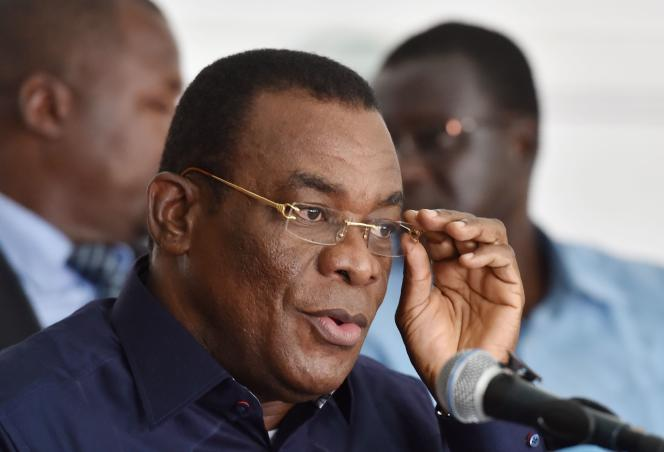Pascal Affi N'Guessan, le 14octobre2016, àAbidjan (Côte d'Ivoire).