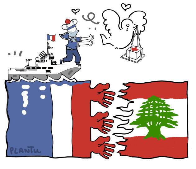 Août. La France aide les Libanais après l'explosion qui a ravagé Beyrouth.