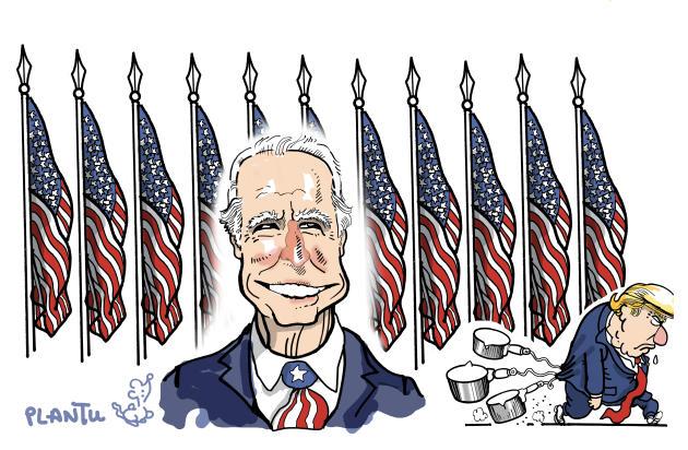 Novembre. Joe Biden élu président des Etats-Unis.