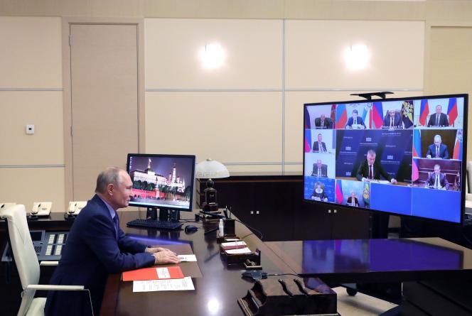 Le président russe Vladimir Poutine, le 25 décembre à Novo-Ogaryovo.