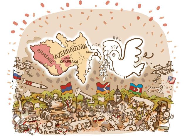 Septembre.En Azerbaïdjan, la guerre dévaste le Haut-Karabakh.