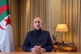 Le président algérien, Abdelmadjid Tebboune, délivre un discours le 13 décembre 2020.