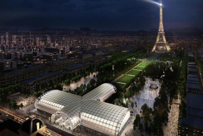 Vue d'artistedu Grand Palais éphémère.