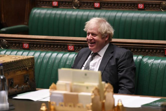 نخست وزیر انگلیس بوریس جانسون در مجلس عوام در تاریخ 30 دسامبر در لندن.