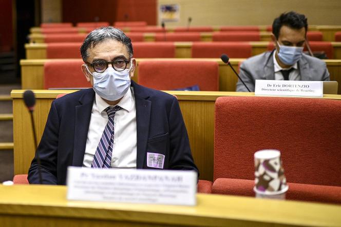 Le chef du service des maladies infectieuses et tropicales de l'hôpital Bichat (AP-HP)Yazdan Yazdanpanah, ici à Paris le 15 septembre 2020, présidera l'Agence nationale de recherche sur le sida et les hépatites virales (ANRS).