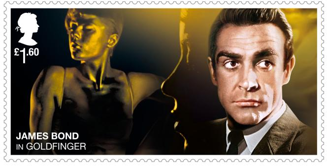 James Bond, « Goldfinger », Royal Mail (2020).