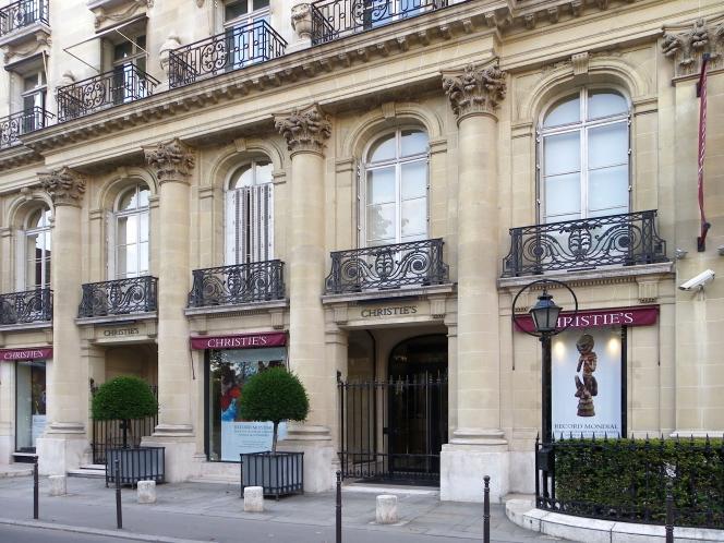 Siège de la maison de ventes aux enchères Christie's France, au 9 avenue Matignon à Paris.