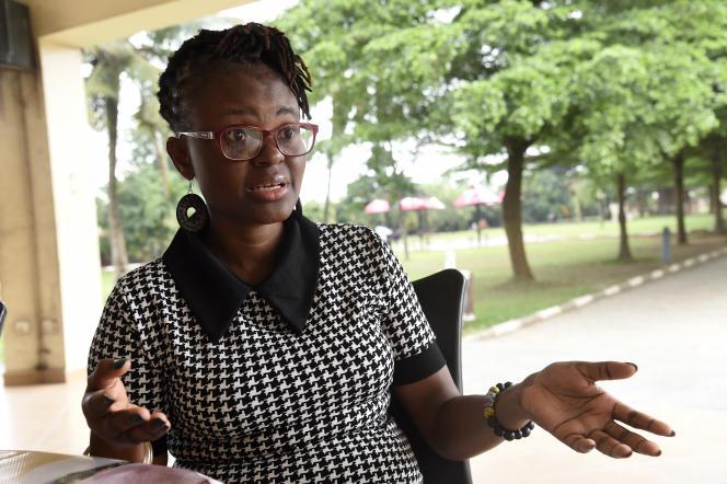 La journaliste d'investigation nigérienne Tobore Ovuorie le 16 novembre 2020 à Ikeja.