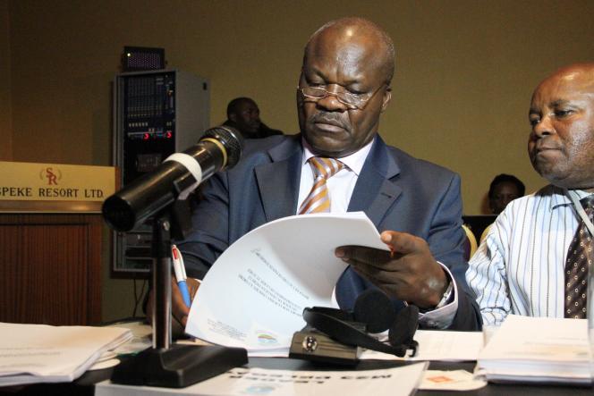 Roger Lumbala le 6 février 2013 à Kampala (Ouganda).