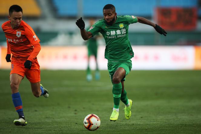 L'attaquant congolais Cédric Bakambu à Pékin, en décembre 2019.