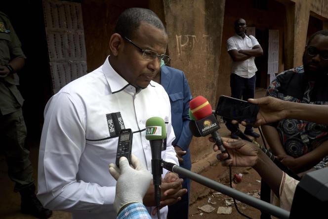 L'ancien premier ministre malien Boubou Cissé, le 29 mars 2020 à Bamako.