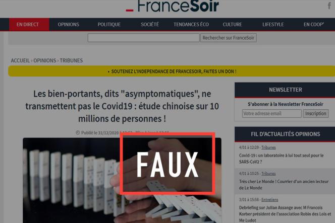 Le site de« France Soir».