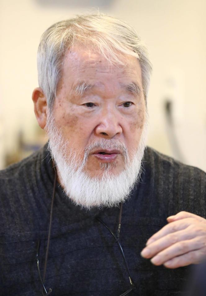 Le peintre Kim Tschang-yeul en octobre 2016.
