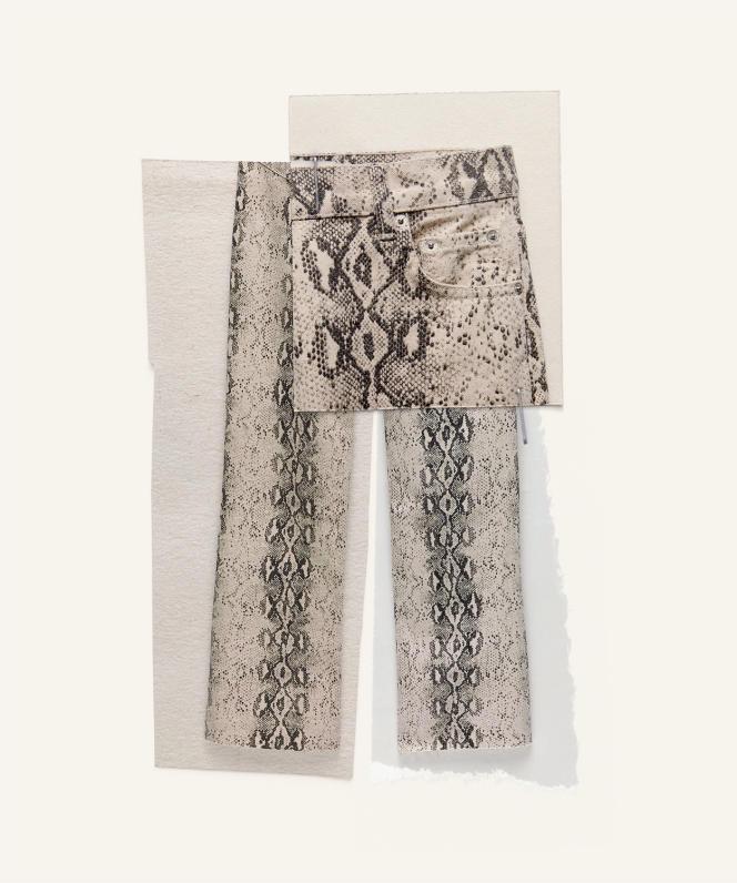 Jeans ZW premium '90s imprimé python, Zara, 39,95€.