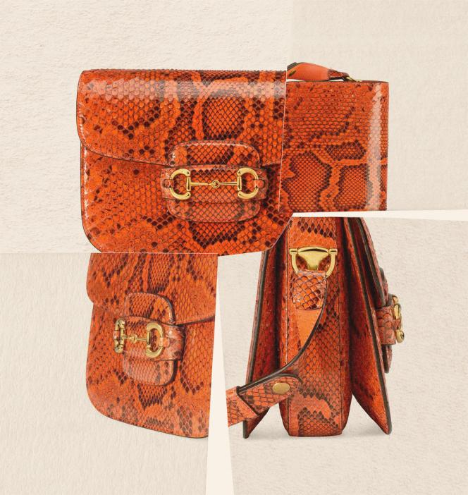 Sac Gucci 1955, en python, Gucci, prix sur demande.