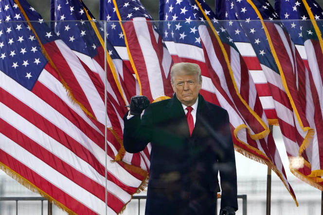 دونالد ترامپ ، در جریان نشست منحط در واشنگتن در روز چهارشنبه ، 6 ژانویه 2021.