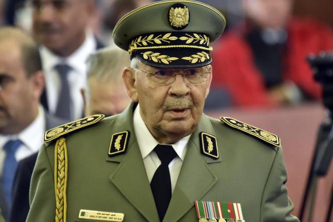 احمد گید صلاح ، رئیس ستاد ارتش ، در الجزایر ، در 19 دسامبر 2019 ، چهار روز قبل از مرگ او.