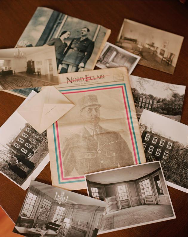 Archives photos du général de Gaulle, à Hampstead, au nord-ouest de Londres.