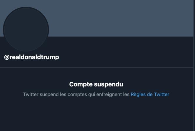 حساب توئیتر دونالد ترامپ اکنون خالی است.