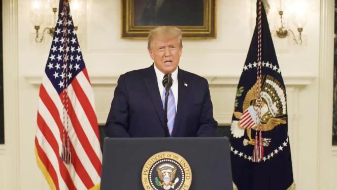 Le président Donald Trump a diffusé une vidéo sur son compte Twitter, le 7 janvier.